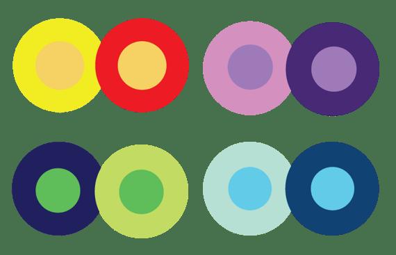 Ejemplo del contexto en la teoría del color