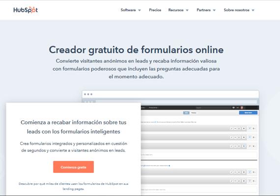 Encuestas online con el Creador gratuito de formularios online de HubSpot