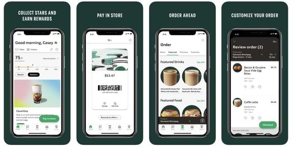 Estrategias de retención de clientes- app de Starbucks