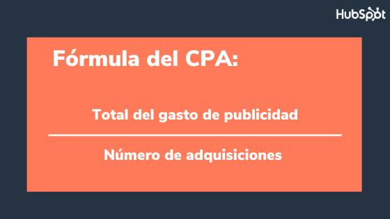 Fórmula para calcular el CPA