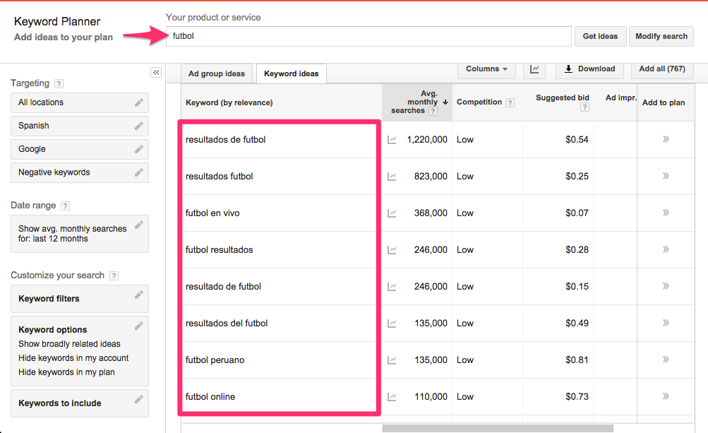 como hacer keyword research