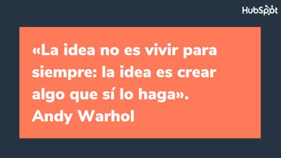 Frase célebre sobre el diseño, de Andy Warhol