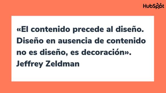 Frase célebre sobre el diseño, por Jeffrey Zeldman
