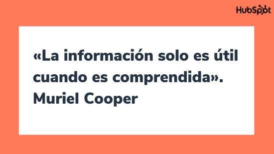Frase célebre sobre el diseño, por Muriel Cooper