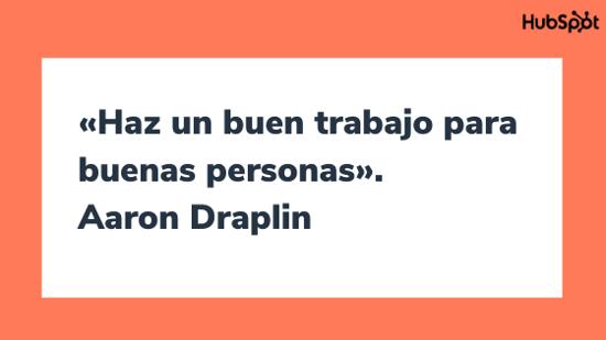 Frase de inspiración para diseñadores de Aaron Draplin
