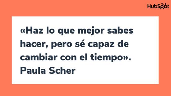 Frase de la diseñadora gráfica Paula Scher