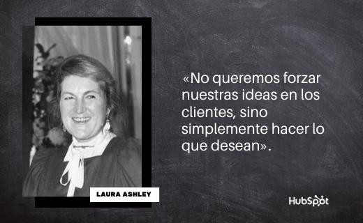 Frase de servicio al cliente de Laura Ashley