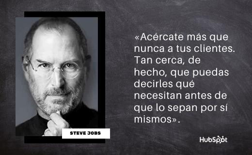 Frase de servicio al cliente de Steve Jobs