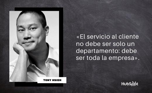 Frase de servicio al cliente de Tony Hsieh