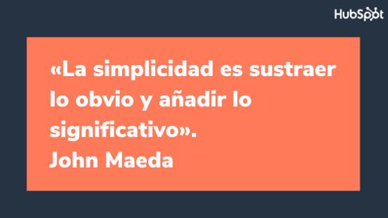 Frase del diseñador gráfico John Maeda