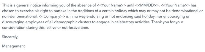 Mensaje de respuesta automática a partir de una plantilla que incluye a todo tipo de destinatarios