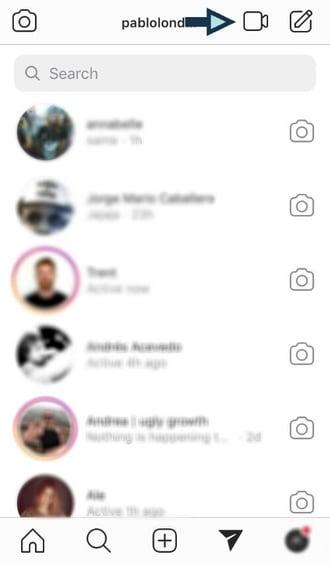 Hacer una videollamada por Instagram