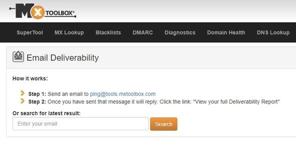 Herramienta de email deliverability- MxToolBox