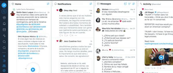 Herramienta para monitoreo de redes sociales- TweetDeck