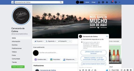 Herramientas de atención a clientes en redes sociales- Facebook Messenger