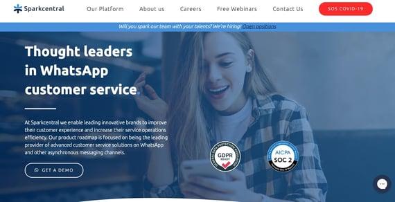 Herramientas de atención a clientes en redes sociales- Sparkcentral