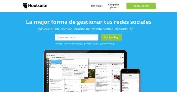 Herramientas de atención al cliente en redes sociales- Hootsuite