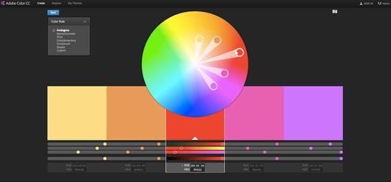 Herramientas de color- Adobe Color