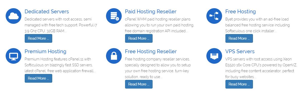 Hosting gratis - Byet.host