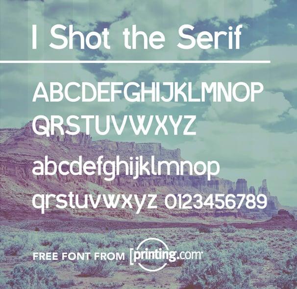 I shot the serif tipografías para logos