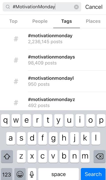 which they are the hashtags
