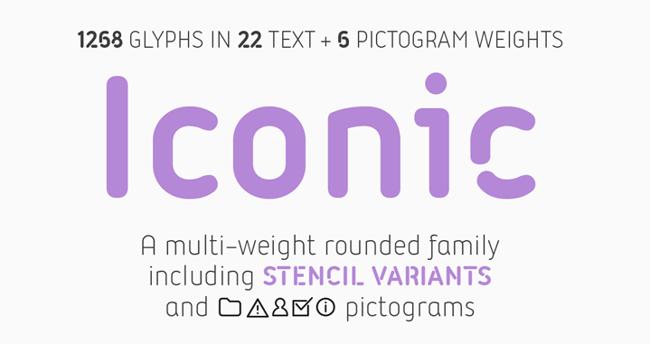 Iconic tipografías para logos