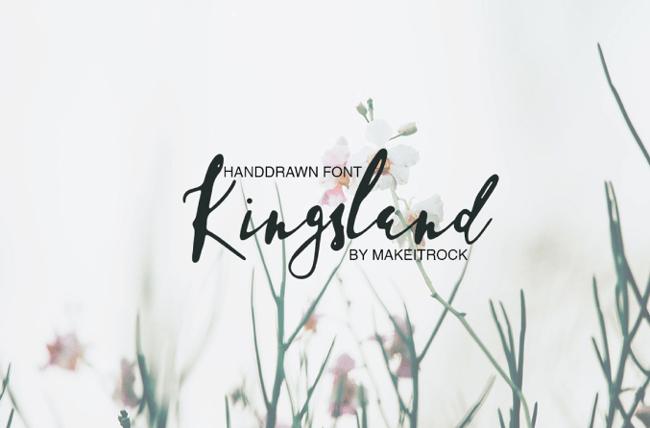 Kingsland tipografías para logos