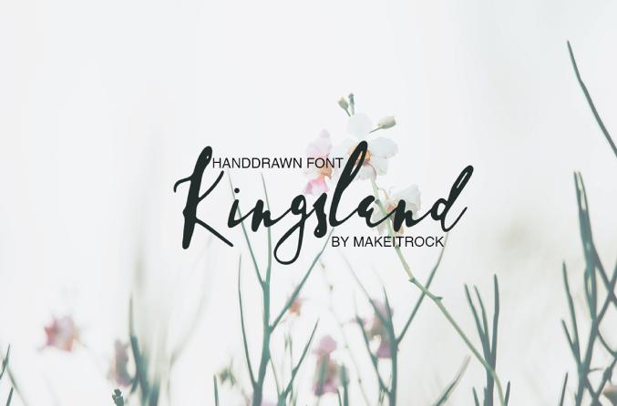 Kingsland tipografia logo