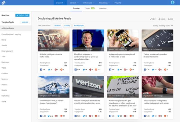 Las mejores herramientas de monitoreo de redes sociales- Buzzsumo