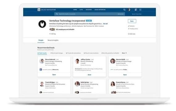 LinkedIn Sales Navigator, herramienta de recomendaciones de leads