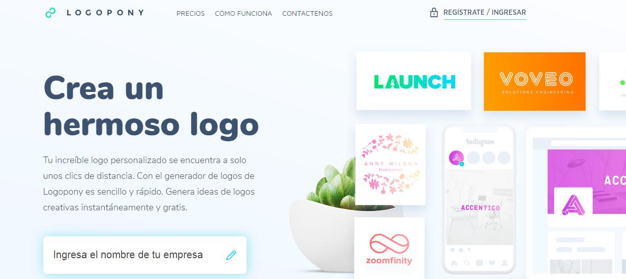 Logopony creador de logo