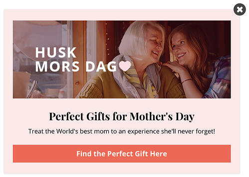 Ejemplo de marketing estacional de Take Offer
