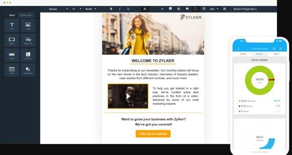 Mejores herramientas de email marketing- Zoho Campaigns
