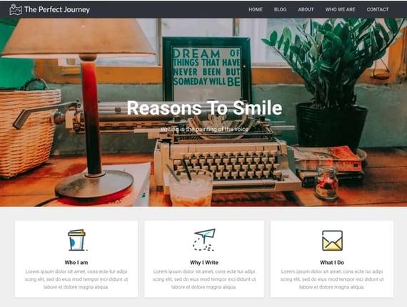 Modern diary, tema de WordPress de fácil navegación