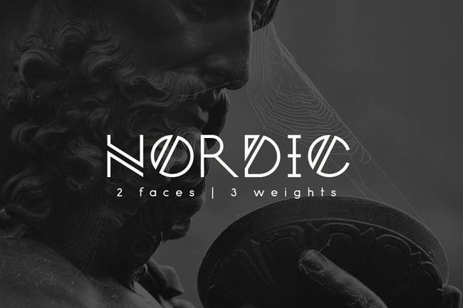 Nordic tipografías  para logos