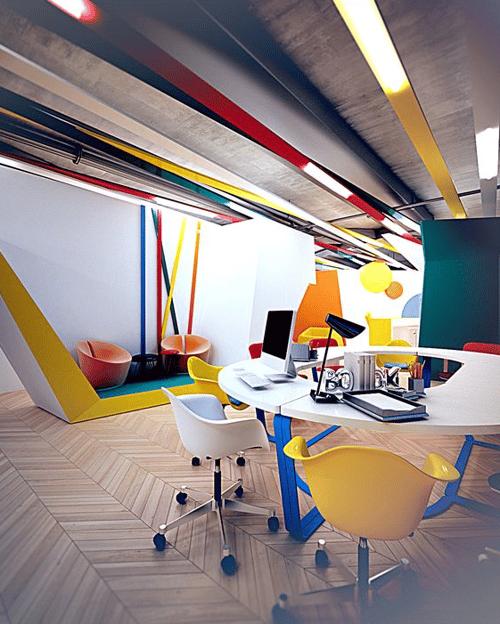 Oficinas creativas del mundo - uso del color
