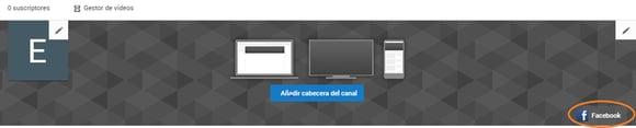 Opciones para el banner de YouTube