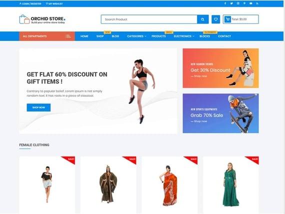 Orchid Store, plantilla de WordPress para tiendas electrónicas