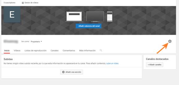 Personalizar un canal de YouTube desde la configuración