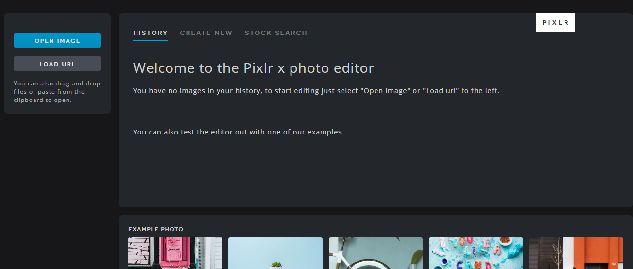 Pixlr editor de fotos