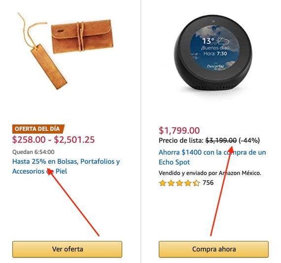 Precios psicológicos de Amazon