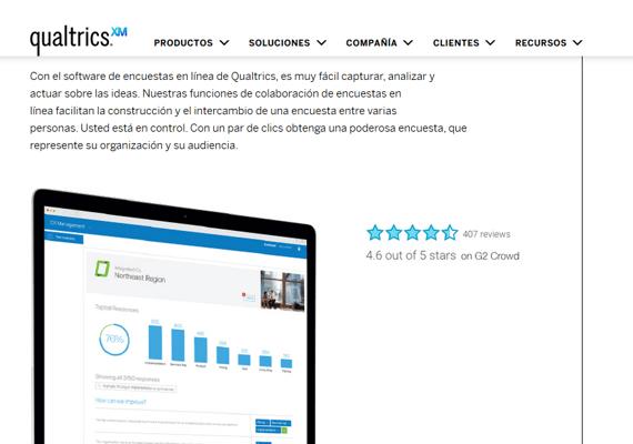 Programa de encuestas online Qualtrics