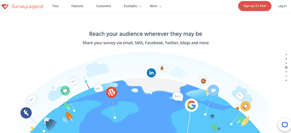 Programa de encuestas online SurveyLegend