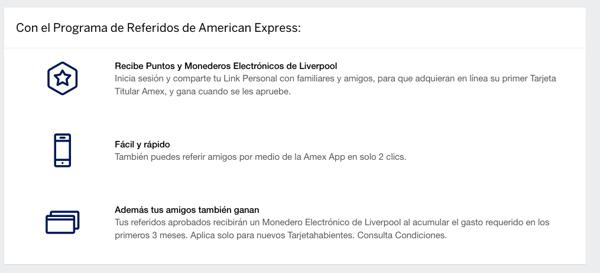 Programa de referidos- ejemplo de American Express