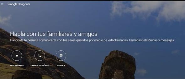 Programas para videoconferencias- Google Hangouts