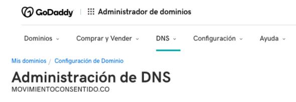 Redirección del DNS