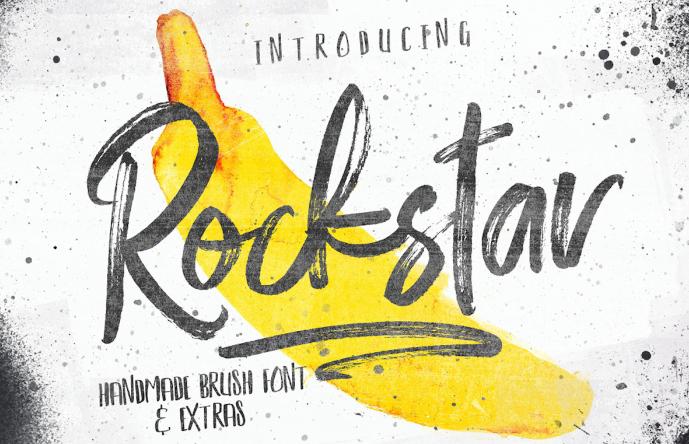 Rockstar tipografia para logo