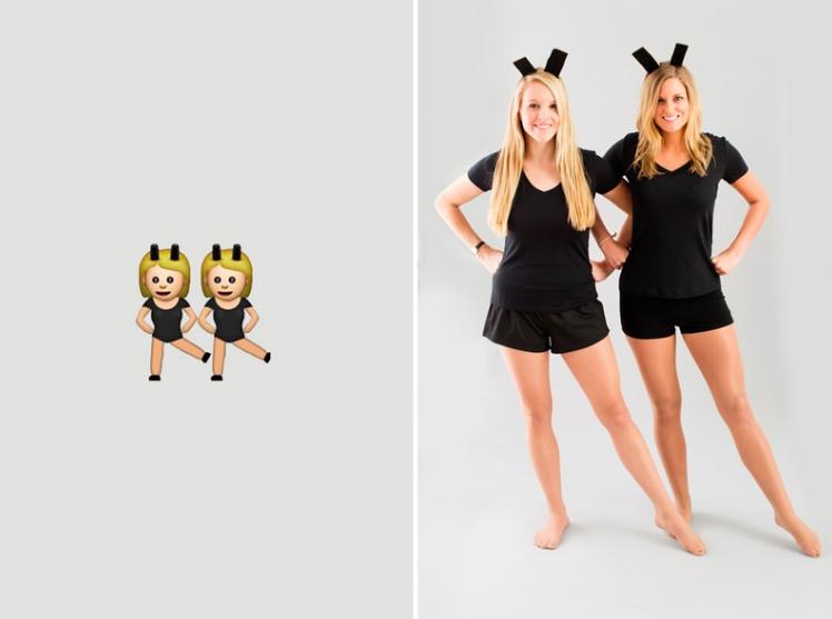 Disfraz halloween oficina emoji bailarinas