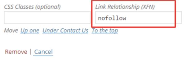 Enlaces nofollow en WordPress