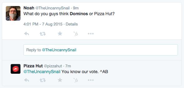 Pizza Hut branding strategy Twitter